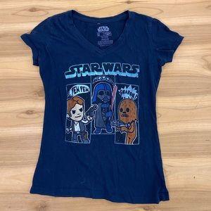 Star Wars v neck graphic tee shirt size medium